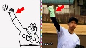 伊達作『マエケン』は、ピッチングの際、衛生面からゴム手袋をしている。