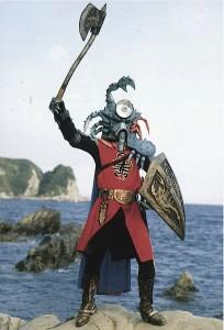 『仮面ライダーV3』より、カニレーザー
