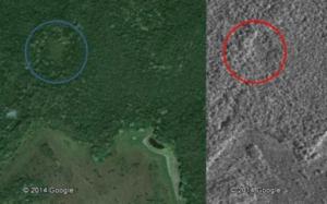 ガドリー君が当初、調べたグーグルマップの衛星写真