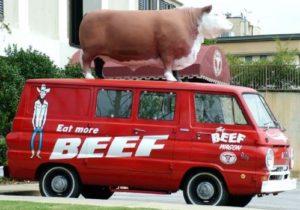 アメリカには様々なタイプのミートトラックがあるのだ 典拠: Terry's beef n more