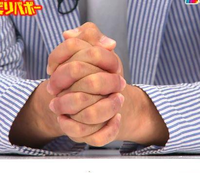 ゆりやんの話の最中にギリギリと両手を握るナダルw