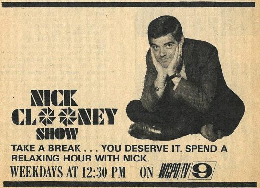 お父様ニック・クルーニーのテレビ番組広告 典拠:pinterest.com